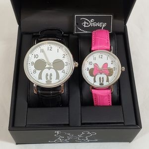 Disney His and Hers Mickey & Minnie Watch Set